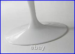 170cm x 110cm Oval White Carrara Marble Tulip Style Dining Table