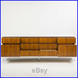 1960's Florence Knoll Vintage Rosewood and Marble Credenza Cabinet Sideboard