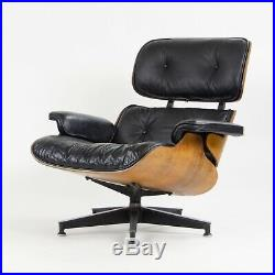 1960's Herman Miller Eames Lounge Chair & Ottoman Rosewood 670 671 Black Leather