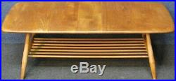 1960s Ercol Windsor 459 Solid Elm And Beech 2 Tier Coffee Table In Light Finish