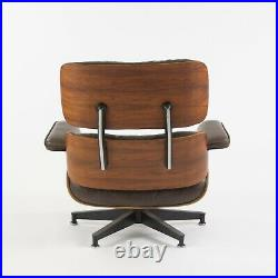 1970's Herman Miller Eames Lounge Chair and Ottoman Rosewood 670 and 671 Brown