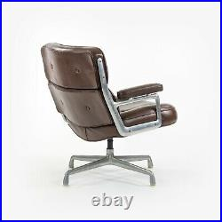 1970s Herman Miller Charles Ray Eames Time Life Chair Brown Leather Desk Chair