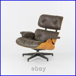 1980s Herman Miller Eames Lounge Chair and Ottoman 670 and 671 Brown Leather