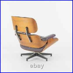 1980s Herman Miller Eames Lounge Chair and Ottoman 670 and 671 Purple Leather
