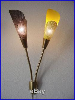 2 x Gorgeous MID CENTURY Modern MATHIEU MATEGOT Style 2-ARMED Wall Lamps Sconces