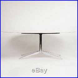 2009 Florence Knoll 78in Calacatta Marble Dining Conference Table Eames Saarinen