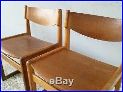 4 Danish mid century chairs by Kvetny & Sønners in the style of Borge Mogensen