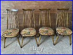 4 Vintage 1970s Ercol Windsor Goldsmith 369 Dining Chairs Excellent Condition