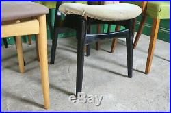 6 Mixed Retro Dining Chairs, Kitchen, Vintage, Mid Century, Wood, Refurb
