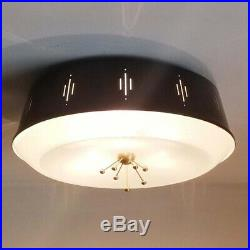 692b 50s 60's Vintage Ceiling Light Lamp Fixture atomic mid-century eames