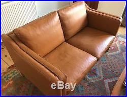 Borge Mogensen, 2 seat leather sofa, mid-century modern REDUCED