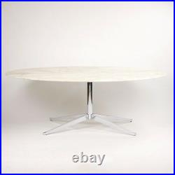 C. 2007 Florence Knoll 78in Arabescato Marble Dining Conference Table Saarinen