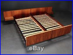 DANISH VINTAGE MID CENTURY MODERN ROSEWOOD DOUBLE BED 1960, s