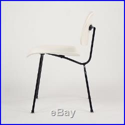 Eames Herman Miller 1954 DCM Dining Chair Restored White Boot Glides Knoll