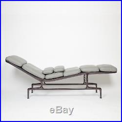 Eames Herman Miller Billy Wilder Gray and Eggplant Chaise Lounge Chair MINT