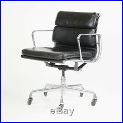 Eames Herman Miller Soft Pad Aluminum Group Chair Black Leather 2000s Sets Avail