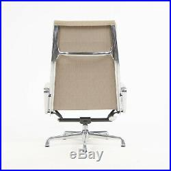 Eames Herman Miller Soft Pad Aluminum Group Lounge Chairs Fabric 2x 2007