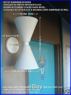 Eames Knoll Modern Aluminum Wall Sconce MID Century