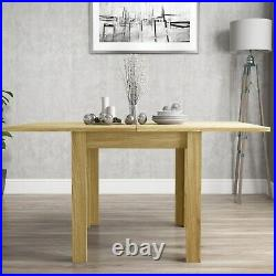 Extendable Flip Top Oak Dining Table Seats 6 New Town
