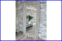 Extra Large Wooden Framed Feature Industrial Style Wall / Leaner Mirror 183cm