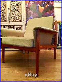 France And Son Mid Century Modern Danish Grete Jalk Teak Lounge Chair Armchair