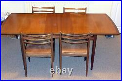 G-Plan Mid-century Teak Extending Dining Table and 4 Chairs (LE12 area)