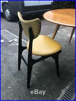 GPlan E Gomme Tola mid century butterfly dining chairs