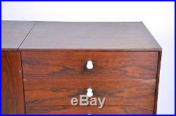 George Nelson Herman Miller Thin Edge Rosewood Credenza Cabinet Sideboard 1 of 2