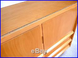 German COMMODE Chest & Foldout Table MID-CENTURY MODERN Cabinet Sideboard 1960s