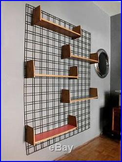 Gio Ponti design in years'50 wall mounted bookcase by PFR studio