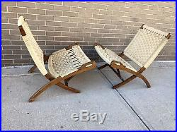 Groovy Hans Wegner Style Folding Rope Chairs Yugoslavia Mid Century Ocoug Best Dining Table And Chair Ideas Images Ocougorg