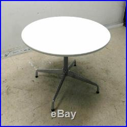 Herman Miller ET122L Eames 42 Round Conference Table White Single Base 28.7H