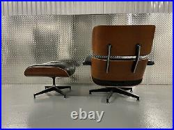 Herman Miller Eames Lounge Chair & Ottoman Cherry Wood & Black Leather