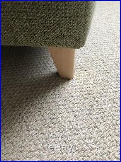 John Lewis (Roger Lewis UK Made, Heals mistral) Olive Wool Boucle Armchair