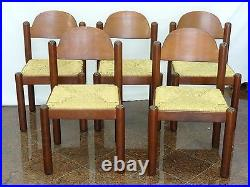 LOT of 5 MID CENTURY MODERN 1960's MANNER of CHARLOTTE PERRIAND RUSH SEAT CHAIR
