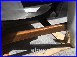 Laura Ashley Whitworth Chair Charcoal Fine Leather, Solid Oak WAS £1000
