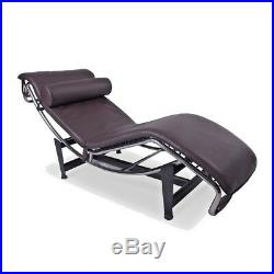 Le Corbusier LC4 Chaise Lounge Recliner Genuine Italian Leather POLTRONA Chair