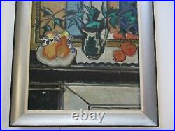 MID Century Cubist Painting Cubism 1950's Abstract Modernism Expressionism