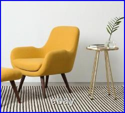 Made. Com Moby mid-century modern yellow armchair. Slightly used