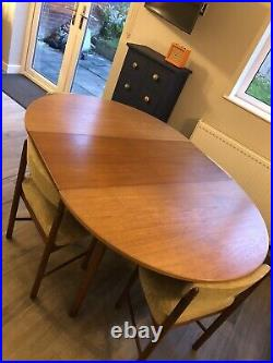 McIntosh Mid Century Extendable Dining Table And 4 Chairs