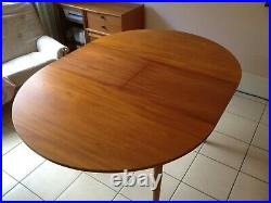 Mcintosh teak 1970s extending dining table and six chairs, excellent condition