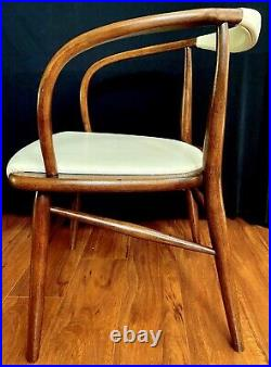 Mid Century Arm Chair Danish Dining Bent Wood MCM Cartwright Boling Chair Desk