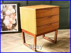 Mid Century Chest of drawers by Europa Teak drawers retro drawers bedside table