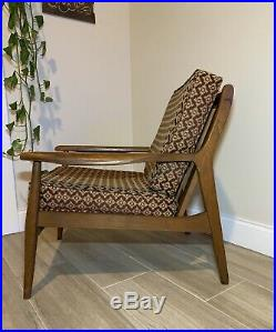 Mid-Century Danish Walnut Lounge Chair Pearsall Style