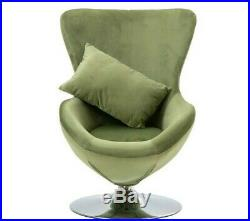 Mid-Century Egg Modern Armchair Small Lounge Jacobsen Chair Green Swivel Chair