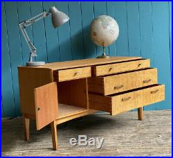 Mid Century Retro Remploy 60s Compact Sideboard Drawers DELIVERY