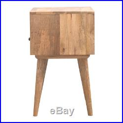 Mid Century Scandinavian Style Solid Wood Bedside Table