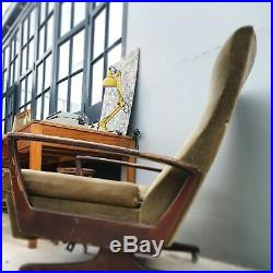 Mid Century Teak Reclining Easy Chair Danish Vintage DELIVERY AVAILABLE