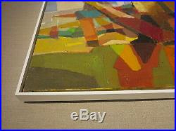 Mid-century Modern Abstract oil painting c. 1950s cubist
