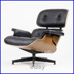 NEW 2018 Herman Miller Eames Lounge Chair & Ottoman Walnut 670 671 Black Leather